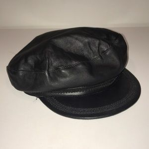 Zara leather captains hat